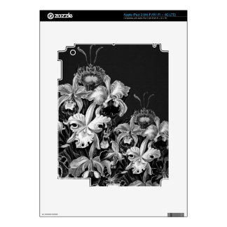 Black&White Vintage Flowers Decals For iPad 3
