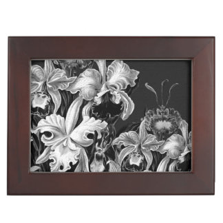 Black&White Vintage Flowers Memory Box