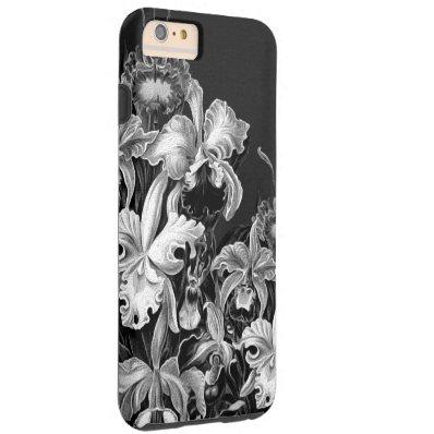 Black&White Vintage Flowers Tough iPhone 6 Plus Case