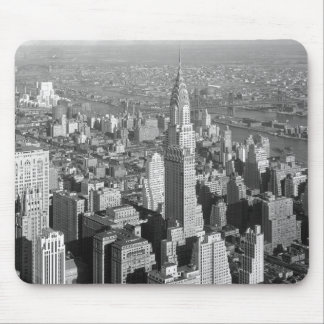 Black & White Vintage New York City Mouse Pads