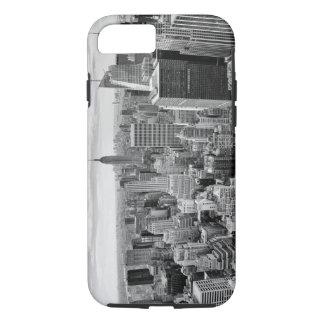 Black White Vintage New York City Skyline iPhone 7 Case