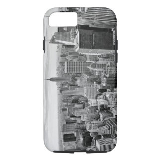 Black White Vintage New York City Skyline iPhone 8/7 Case