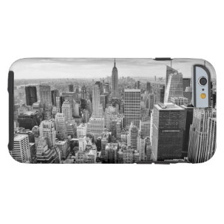 Black White Vintage New York City Skyline Tough iPhone 6 Case