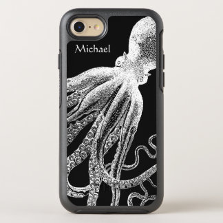 Black White Vintage Octopus Tentacles Illustration OtterBox Symmetry iPhone 7 Case