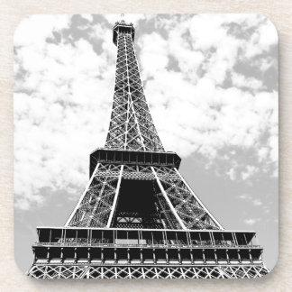 Black & White Vintage Paris Eiffel Tower Beverage Coaster