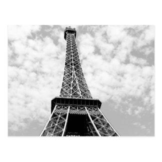 Black & White Vintage Paris Eiffel Tower Postcard