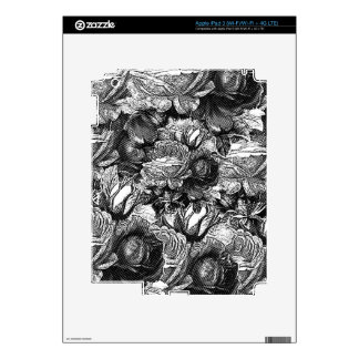 Black&White Vintage Roses iPad 3 Skins