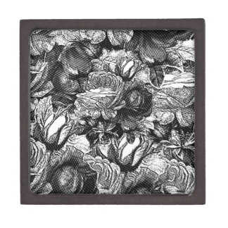 Black&White Vintage Roses Jewelry Box