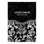 Black & White Vintage Roses Pattern-Customized Large Business Cards (Pack Of 100)