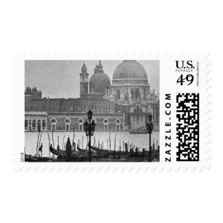Black White Vintage Venice Travel Postage