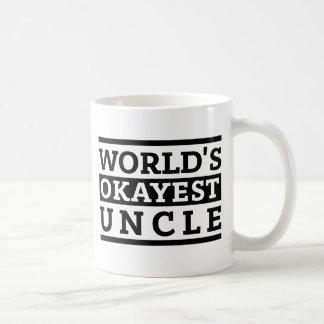 Black White Vintage World's Okayest Uncle Coffee Mug