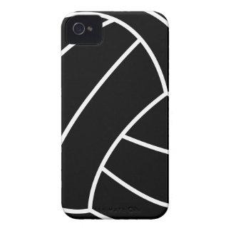 BLACK & WHITE VOLLEYBALL summer sports beach fun iPhone 4 Cases