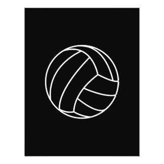 BLACK & WHITE VOLLEYBALL summer sports beach fun Flyer