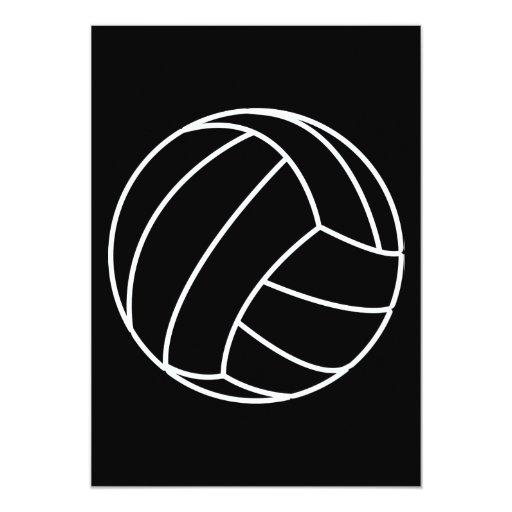 BLACK & WHITE VOLLEYBALL summer sports beach fun 5x7 Paper Invitation Card