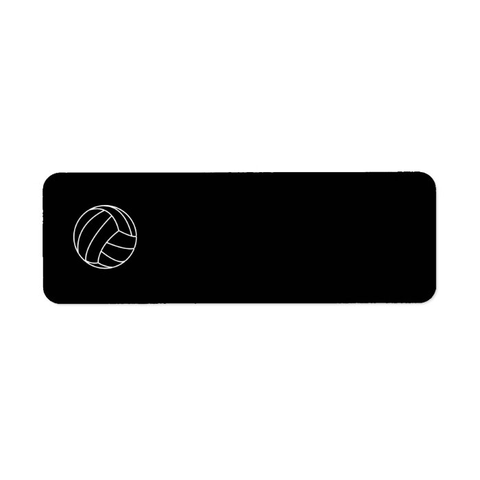 BLACK & WHITE VOLLEYBALL summer sports beach fun Label