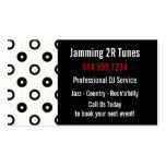 Black & White w/Black Circles/Discs Business Card
