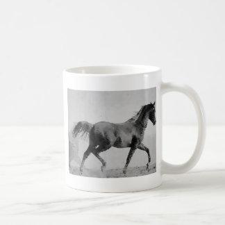 Black & White Walking Horse Coffee Mug