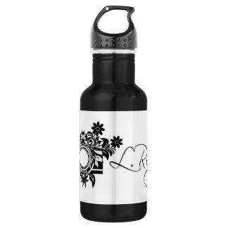Black & White Water Kanteen Water Bottle