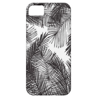 Black white watercolor hand painted palm trees iPhone SE/5/5s case