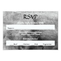 Black/White Watercolor - RSVP Card