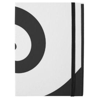 Black & White Wave Design iPad Case