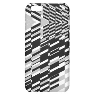 Black White Wave Sher  Cover For iPhone 5C