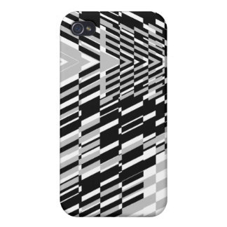 Black White Wave Sher  iPhone 4/4S Covers