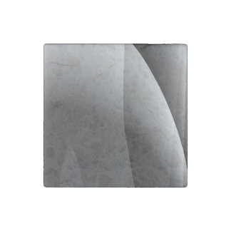 Black&White Wavy Abstract Stone Magnet