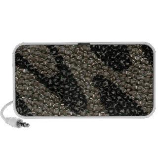 Black White Wavy Sequin Laptop Speaker