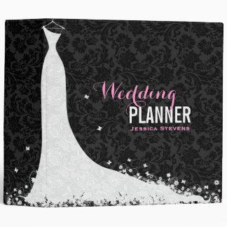 Black & White Wedding Dress & Vintage Lace 3a Vinyl Binder