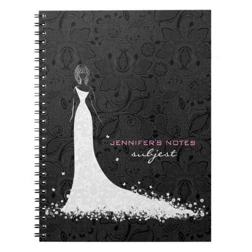 Black white wedding dress vintage lace notebook zazzle for The notebook wedding dress