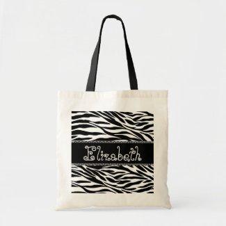 Black & White Wedding Favor Zebra Bridesmaid Bag bag