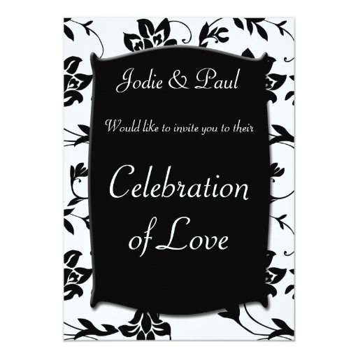 Black & White - Wedding Invitation
