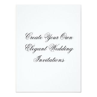 Black White Wedding Invitations Create Your Own