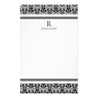 Black & White Wedding Monogram Stationery