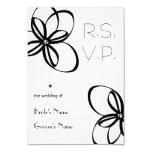 Black & White Wedding R.S.V.P. 3.5x5 Paper Invitation Card