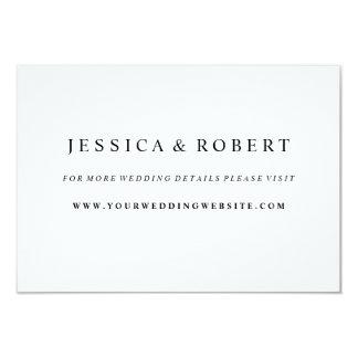 Black & White Wedding Website Insert Card