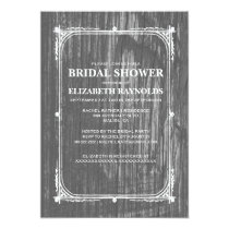 Black White Western Barn Wood Bridal Shower Invite