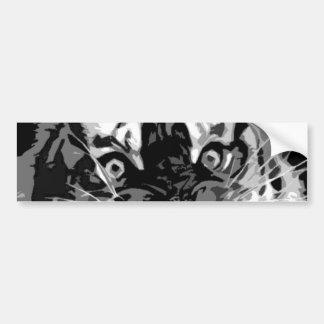 Black & White Wild Tiger Bumper Sticker