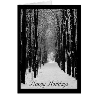 Black & White Winter Photo Holiday Greeting Card