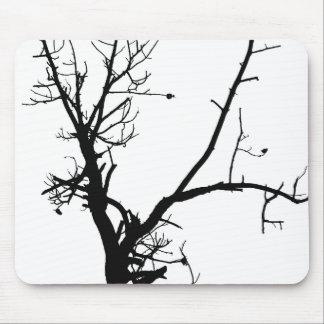 Black & White Winter Tree Mouse Pad