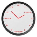 Black & White with Red Clock Plate