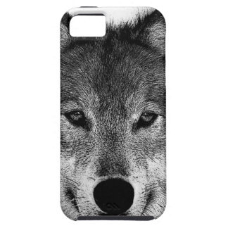 Black & White Wolf Artwork iPhone 5 Cover