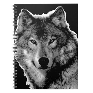 Black & White Wolf Artwork Notebook