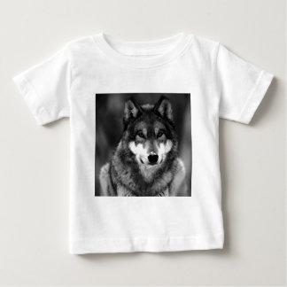 Black & White Wolf Baby T-Shirt