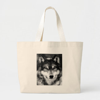 Black & White Wolf Canvas Bags