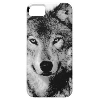 Black & White Wolf iPhone 5 Cases