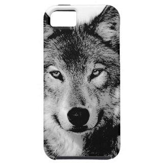 Black & White Wolf iPhone 5 Case