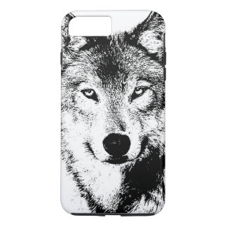 Black & White Wolf Creative Stylish Artwork iPhone 8 Plus/7 Plus Case