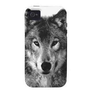 Black & White Wolf Eyes Vibe iPhone 4 Cases